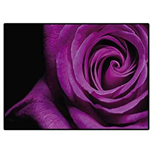 Outdoor Carpets Patio Purple Rose Boys Girls Baby Kids Children Rugs 6 X 9 Ft