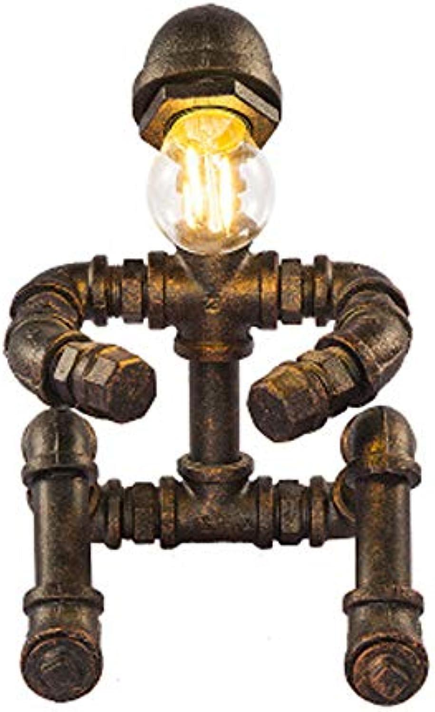 Vintage Edison Industrial Style E27 Wasserleitung Licht, Wohnzimmer Schreibtisch Cafe Dekoration Tischlampe