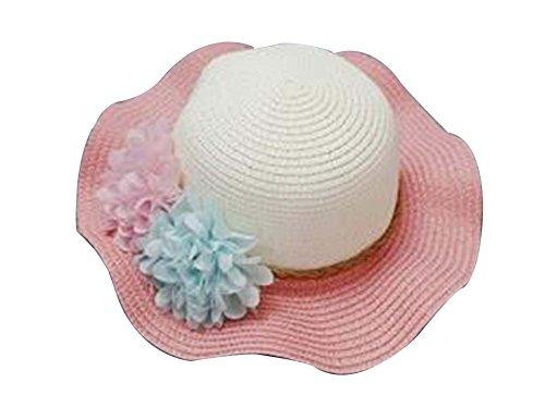 Les petites filles Chapeau de soleil Princesse Hat Summer Beach Hat # 05