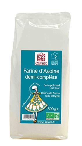 Celnat - Farine dAvoine - Sans Gluten - Ab - Cuisine Patisserie - 500 G