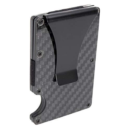 Guangcailun Carbon Fibre Card Holder Man Case Män Cash Clip Business RFID Blockering Slim plånbok Män Cash Clip Portable ID-kort Case