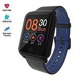 Fitpolo H706 Activity Tracker Intelligente Impermeabile IP67 con Cardiofrequenzimetri, Pedometri, Contacalorie, Monitor del Sonno, Allarme SMS/SnS, Compatibile con iPhone Android Samsung