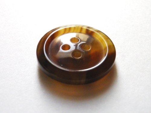 本水牛ボタン オリジナル型��1024 茶色  25mm 全サイズを網羅