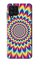 JP3162A24 カラフルなサイケデリック Colorful Psychedelic For Samsung Galaxy A22 4G 用ケース