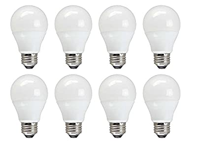 TCP 60 W Equivalent, Value LED A19 Light Bulbs, Non-Dimmable, Soft White (8 Pack)