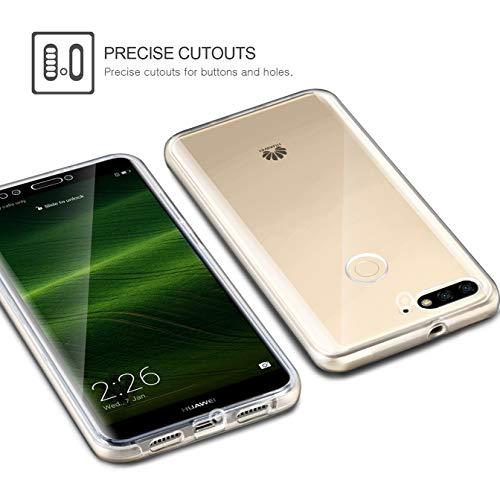 AROYI Huawei Y7 2018 /Honor 7C/ Y7 Prime 2018 Hülle 360 Grad Handyhülle, Silikon Crystal Full Cover [ PC Zurück + TPU Vorderseite] Vorne und Hinten Schutzhülle für Huawei Y7 /Honor 7C/ Y7 Prime 2018 - 6