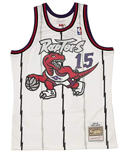 Mitchell & Ness Vince Carter 15 Replica Swingman NBA Jersey Toronto Raptors White HWC Basketball Trikot