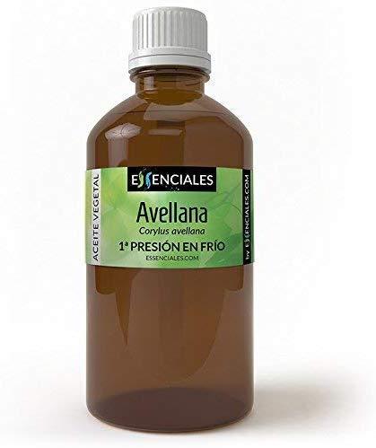 Essenciales - Aceite Vegetal de Avellana, 100% Puro, 100 ml | Aceite Vegetal Corylus Avellana, 1ª Presión Frío