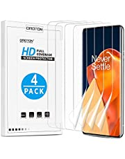 [4 Pack] OMOTON Screen Protector voor OnePlus 9 Pro, TPU OnePlus 9 Pro Screen Protector [Niet Glas] [Case-Friendly] [Geen Lifting on Edges] [Full coverage] [HD clear]