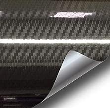 VViViD Epoxy High Gloss Black Carbon Vinyl Automotive Wrap Film DIY Easy to Install No Mess (6ft x 5ft)