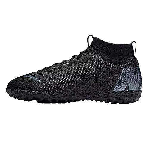 Nike JR Superfly 6 Academy GS TF, Zapatillas de fútbol Sala Unisex niño, Negro (Black/Black 001), 35 EU