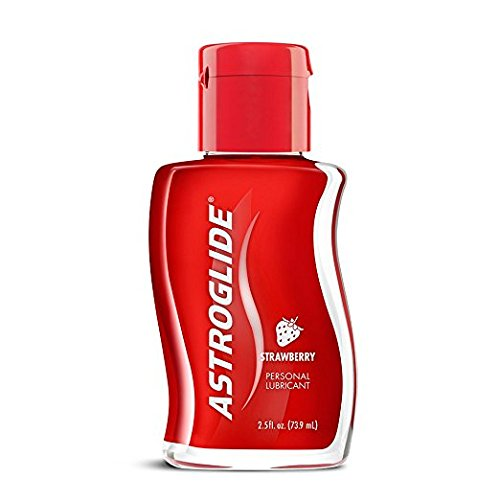 Astroglide Strawberry Liquid Personal Lubricant Water-based Long-lasting Strawberry Fragrance and Flavor Latex-safe : Size 2.5 Oz. / 73.9 Ml. (Pack of 3)