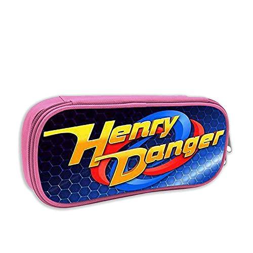 astuccio scuola elementare henry danger KEROTA Astuccio portapenne Henry Logo Danger Cases Cosmetici Grande Capacità Conservazione Trucco Riutilizzabile Ragazza Rosa