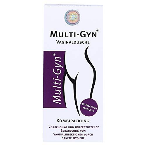 Multi-Gyn Vaginaldusche für eine optimale Vaginalhygiene 1 Applikator (Füllmenge 175 ml) inkl. 1 Röhrchen mit 10 Brausetabletten zur Herstellung von Spüllösungen