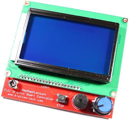 Paradisetronic.com con kit de pantalla LCD 12864 y controlador, cables de conexión y adaptadores para RAMPS 1.4, impresora 3D, Prusa Mendel