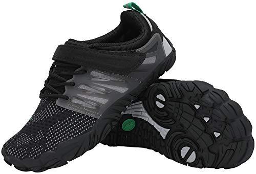 SAGUARO Minimalistas Zapatillas de Trail Running Niños Zapatos de Agua Zapatillas de Deporte Transpirables para Exterior Interior Negro Oscuro Gr.35