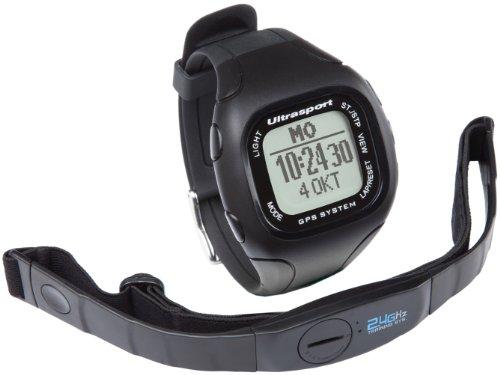 Ultrasport NavRun 500, GPS Pulsuhr mit Brustgurt, Pulscomputer, Fitnesstracker für Laufen, Radfahren, Wandern uvm., 5 Trainingsprofile, viele Funktionen & kompatible Software, aufladbarer Akku