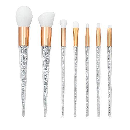 GONGFF Cone Transparent Grain Poignée Maquillage Brush Foundation Haute Brillance Blush Ombre À Paupières Lèvre Outil Multifonction