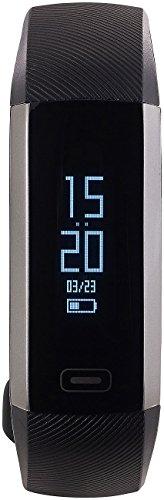 newgen medicals Fitnessuhr Blutdruck: Fitness-Armband, Blutdruck- & Herzfrequenz-Anzeige, Bluetooth, IP67 (Fitnessarmband mit Blutdruckmesser)