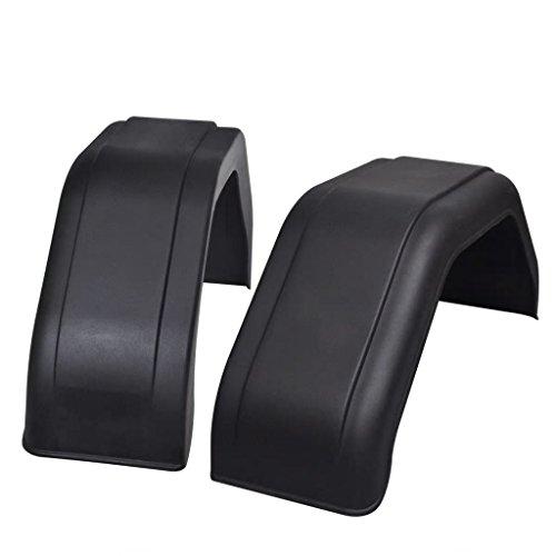 2x guardabarros en PP alta calidad para remolque 200x 680mm (L x P x H) negro
