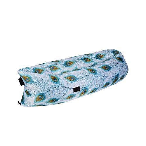 Outad Draagbare ligbank, voor binnen en buiten, luchtbedden, polyester, waterdicht, inklapbaar, voor lounging, zomer, camping, strand, vissen