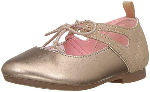 Oshkosh B'Gosh  Girls' Milky Ballet Flat, Rose, 10 M US Toddler