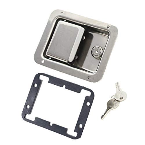 WXFEXIA RV Travel Trailer Door Latch - Stainless Steel Tool Box Lock with Gasket and Key for Boat, Marine, Caravan, Camper Hardware Accessories