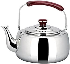 ANXI Tea Kettle Whistling,4 Liter Stainless Steel Tea Pot Water Kettle for Induction Cooker Natural Gas