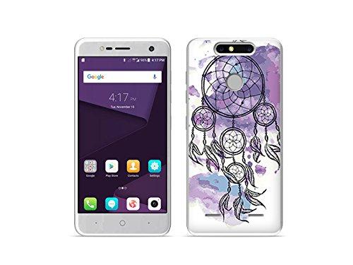 etuo Handyhülle für ZTE Blade V8 Mini - Hülle Fantastic Case - Violetter Traumfänger - Handyhülle Schutzhülle Etui Case Cover Tasche für Handy