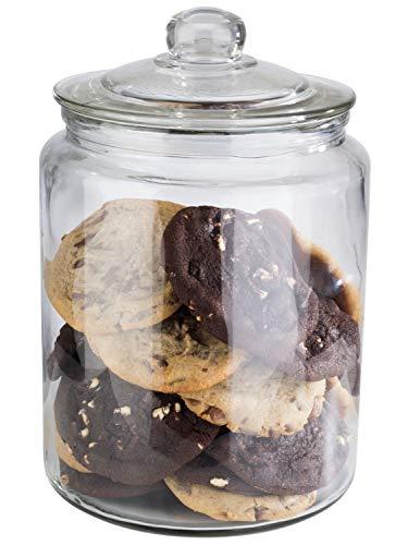 """APS Vorratsglas """"Classic"""" – Hochwertiger Glasbehälter zur Aufbewahrung mit 6,0 Liter Fassungsvermögen – Ihre Ware bleibt frisch durch den Glasdeckel mit Dichtung, Aufbewahrungsbehälter"""