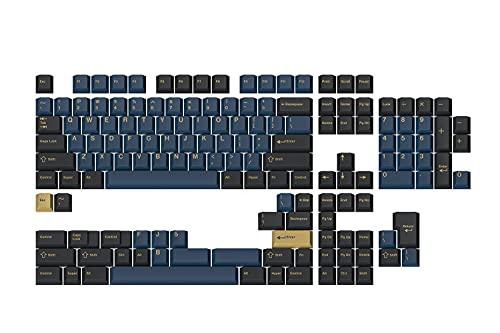 DROP + GMK Redsuns Blue Samurai Custom Mechanical Keyboard Keycap Set - 153-keys, Doubleshot, Cherry Profile, for 60%, 65%, TKL, Full-Size Layouts, and More (Blue, Base Kit)