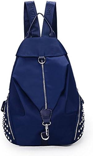 Korea edition Travel Rucksack Akademie Wind Freizeitaktivit n wasserdichte Rucksack lady Schultertasche, deep Blau