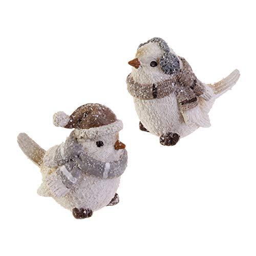 RAZ Imports Wintry White Resin Bird Figurines - Set of 2 Assorted