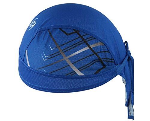 AHATECH Deportes Headwear Secado rápido Sol protección UV Ciclismo Bandana Running Gorro Casco de Bicicleta Motocicleta Cap Azul