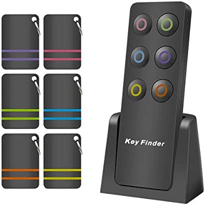 Key Finder Wireless Remote Item Finder Locator Pet Tracker 6 in 1 Receivers 100ft RF Remote product image
