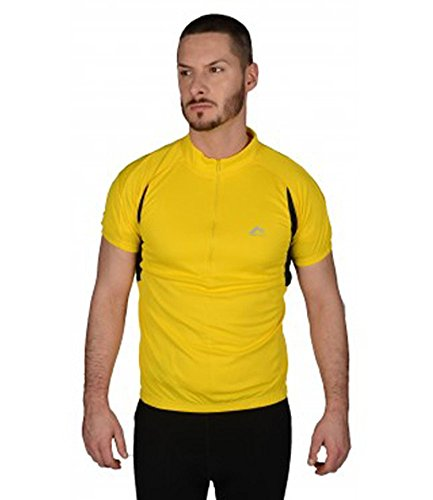 More Mile Short Sleeve Cycling Jersey - Yellow-M