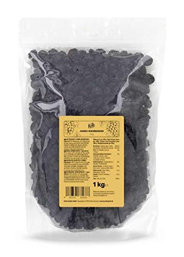 KoRo - Jumbo Weinbeeren 1 kg - Blaue Weinbeeren ohne Zucker und Schwefel in Vorteilspackung