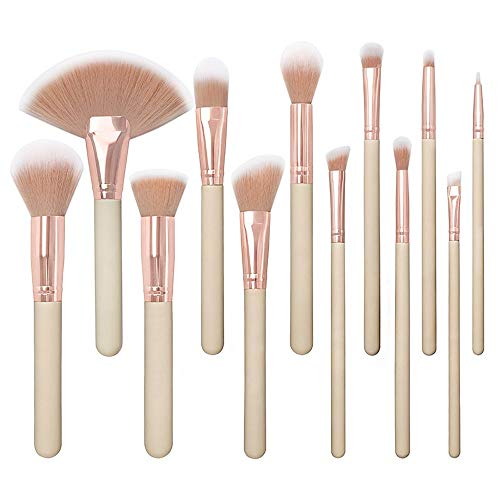 Brosses 12pcs pinceaux de maquillage ensemble fard à paupières eyeliner mélange de plis kit shader detailer pinceau à cils (rose) Maquillage pour les femmes