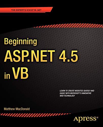 Beginning ASP.NET 4.5 in VB (Expert\'s Voice in .NET)