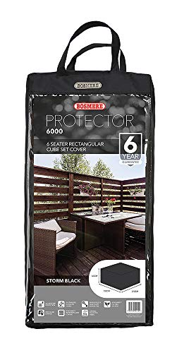 Bosmere Protector 6000 Modular 6 Seat Rectangular Cube Set Cover – Black, M660