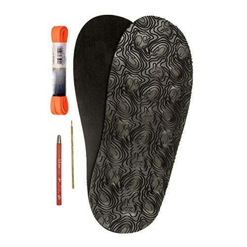 DIY Barfuss Sandalen - Huarache-Sandalen Bausatz selbermachen (schwarz) barfuß Schuhe