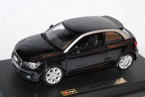Audi A1 Schwarz 3 Türer Ab 2010 8X 1/24 Bburago Modell Auto