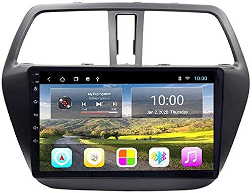Android 8.1 navigazione GPS Autoradio Player per Suzuki S-Cross 2014-2017, FM/RDS/WiFi/Bluetooth/Controllo del volante/Connessione a specchio/Camera di visualizzazione posteriore