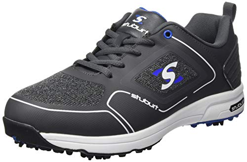 Stuburt Golf SBSHU1126 - Tenis de Golf para Hombre XP II Dri-Back Impermeables de Microfibra cómoda con Pinchos, Hombre, SBSHU1126, Gris Oscuro, 44,5 EU