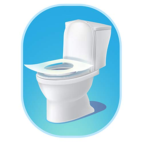 Disposable Toilet Seat Covers Flushable Paper Travel Pack 50-Count