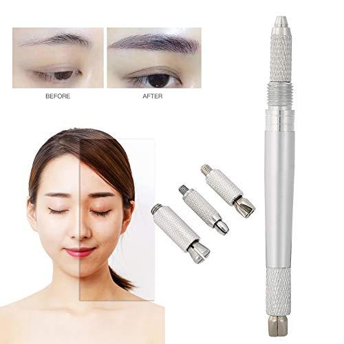 Stylo de tatouage de sourcil, stylo cosmétique de tatouage de Microblading 3 dans 1 professionnel à double extrémité Microblading de stylo permanent stylo de revêtement manuel