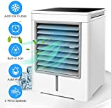 Personal Air Cooler, Portable Evaporative Conditioner with 3 Wind Speeds Touch Screen Small Desktop...