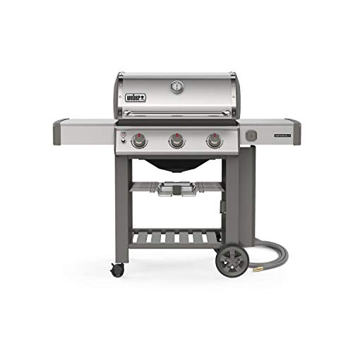 Weber 66001001 Genesis II S-310 Natural Gas 3-Burner Grill, Stainless Steel