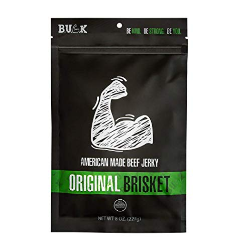 BULK Beef Jerky, All Natural, Brisket Beef Jerky – Original, 8 Ounce – Soft and Sweet Meat Snack, Ready to Eat – 9g of Protein, Made with 100% Beef – Gluten Free, MSG Free, Nitrate Free