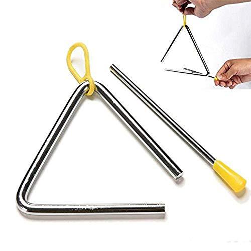 qinlee Niños de música de precoz. juguete Triangle Instrumentos de percusión Triángulo Instrumento Hierro 4inches Mir Striker